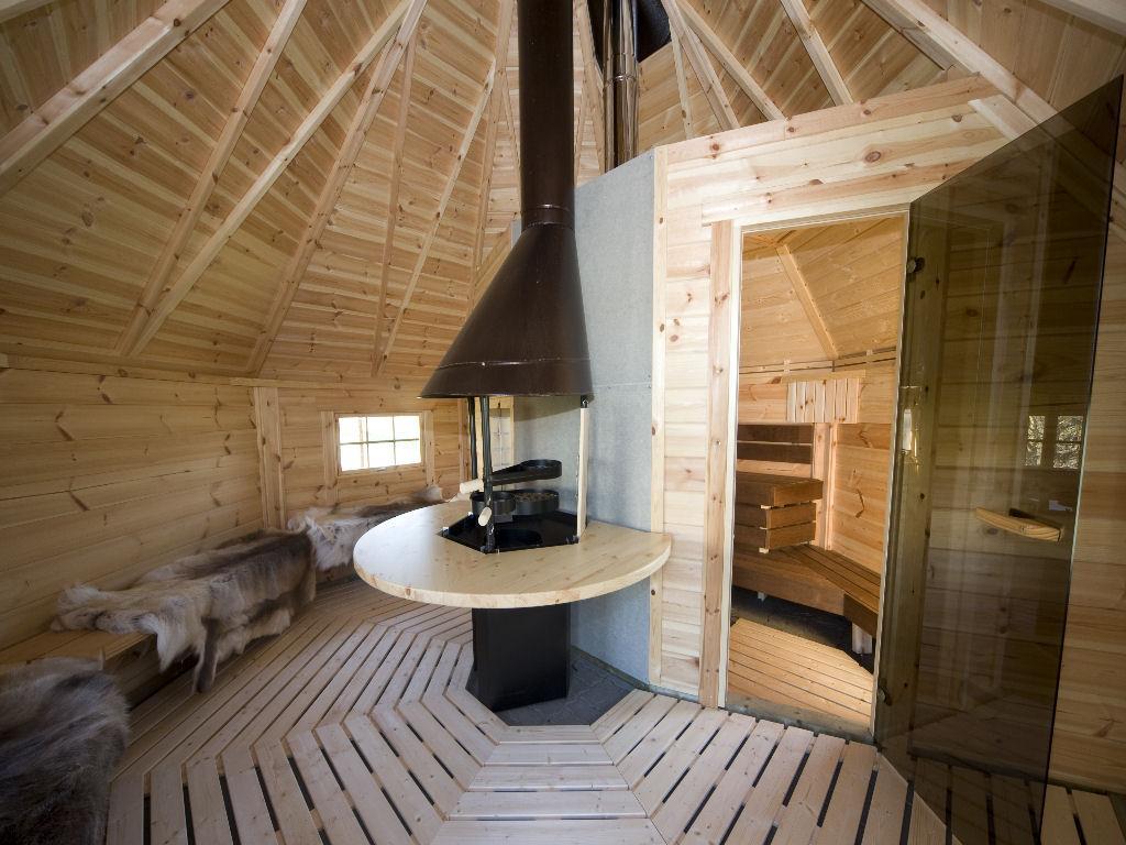 Combikota, grill en sauna in één