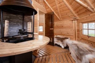 Combikota, sauna en grill