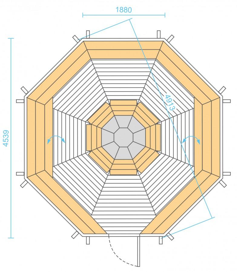 Grill Cabin 16.5 m2 PLAN 1