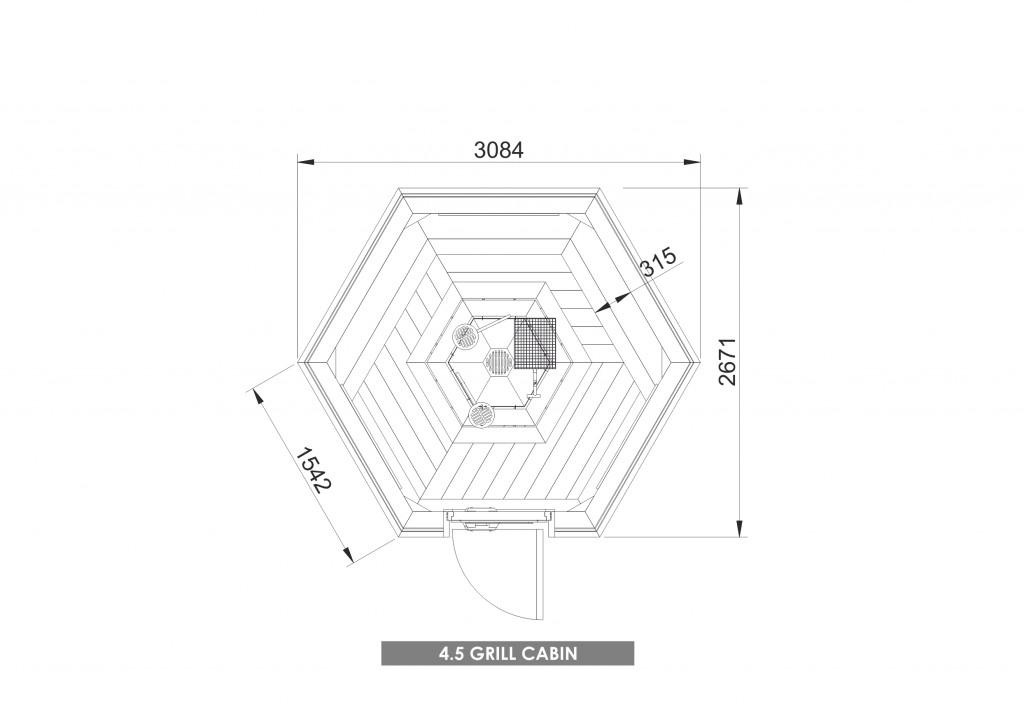 Grill Cabin 4.5 m2 PLAN