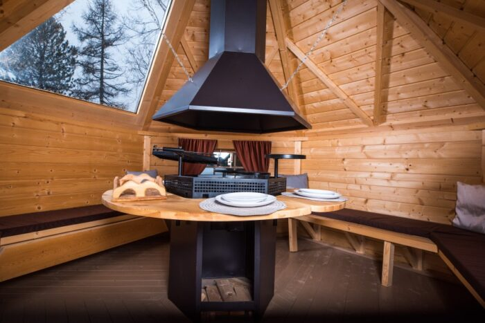 Grill Cabin 9.2 m2 With Glass Roof and PREMIUM Grill and chimeny KIT1
