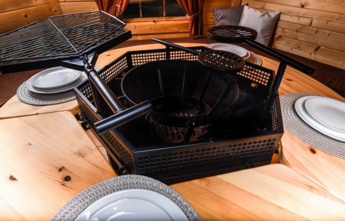 Grill Cabin 9.2 m2 With Glass Roof and PREMIUM Grill and chimeny KIT3