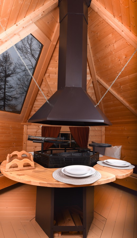Grill Cabin 9.2 m2 With Glass Roof and PREMIUM Grill and chimeny KIT4