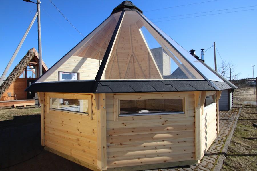 Finse Kota observatiehut met glazen dak
