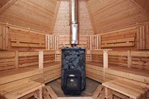 Sauna 9 m2 logburning heater