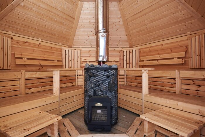 Sauna 9 m2 logburning heater