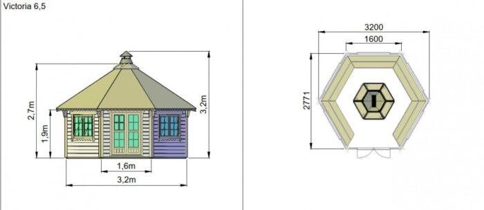Victoria 65 m2 dimensions