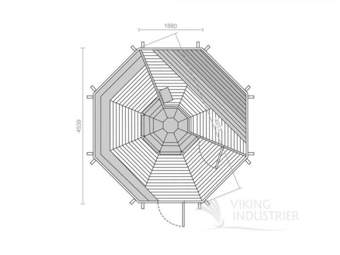 Sauna cabin 16.5 m2 Plan Viking