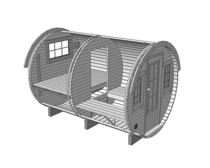 Sleeping barrel 3.3 x 2.2