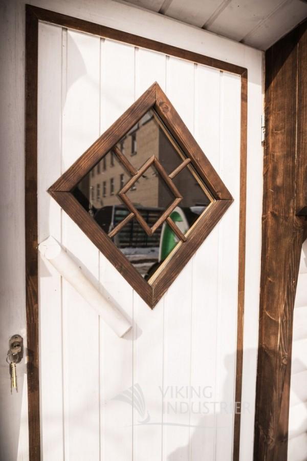 sauna cabin door