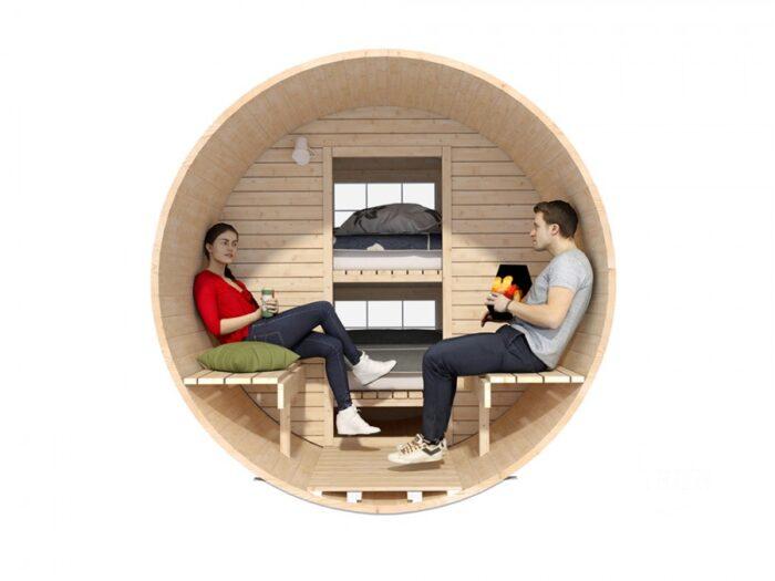 sleeping barrel 2.2 x 3.3 Mini family 2