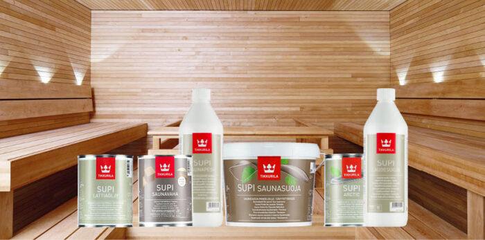 Supi sauna op een rijtje